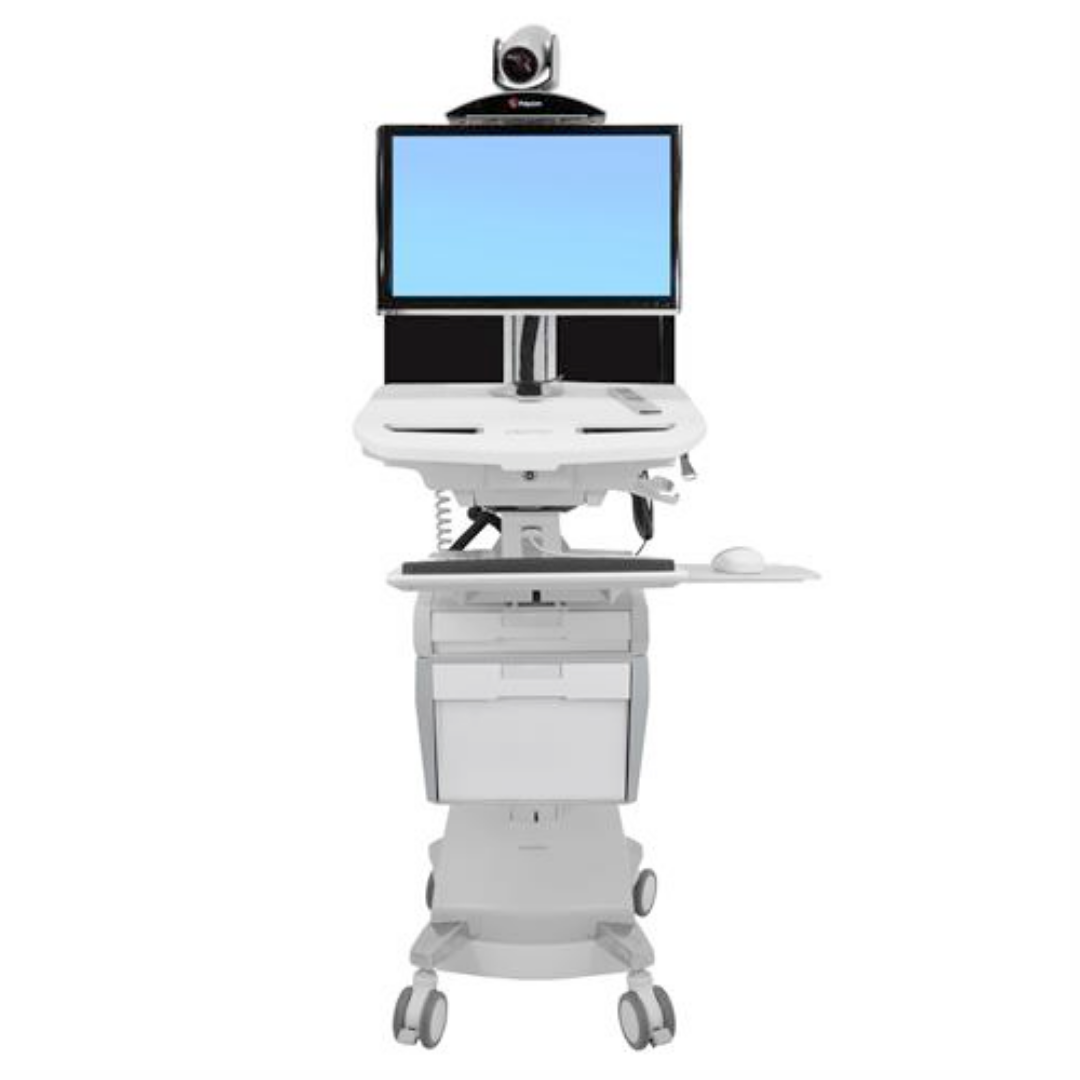 StyleView Telepresence Cart Back-to-Back Monitors