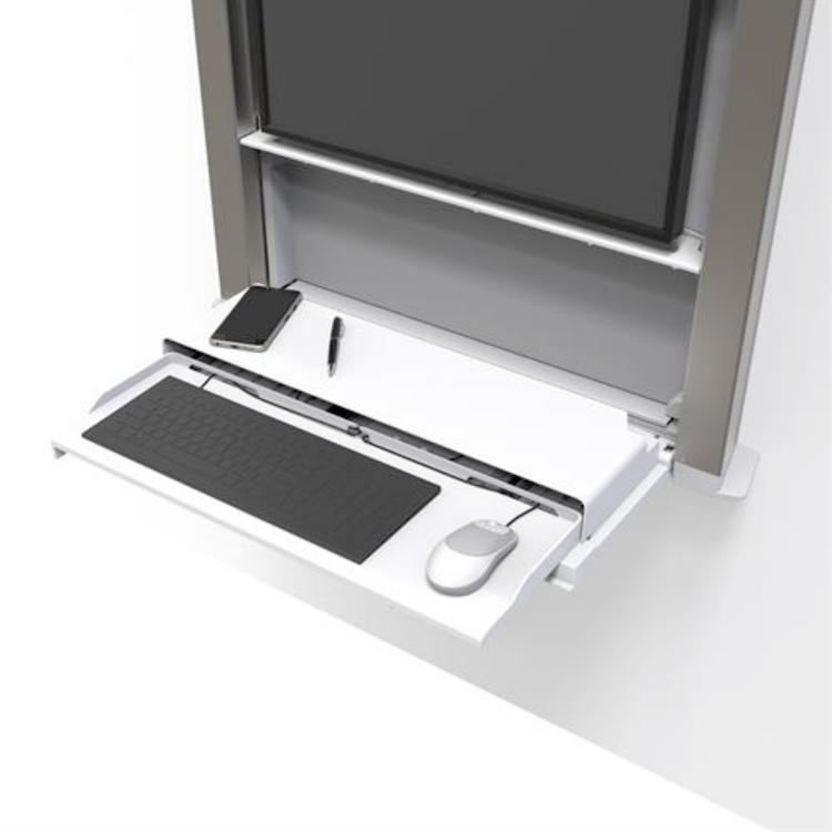 hospital wall mounted computer desk